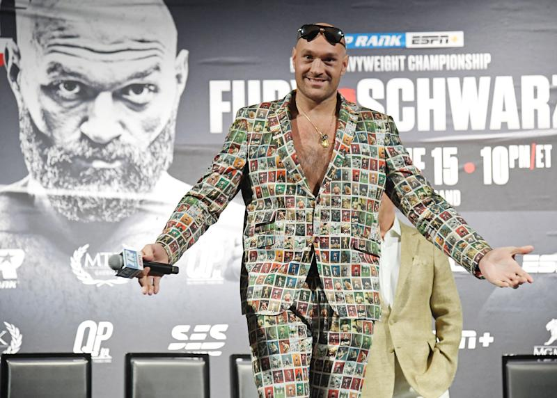 Tyson Fury has agreed to fight Otto Wallin in September, as a lead-up to his major fight with Deontay Wilder in early 2020. (Photo by Ethan Miller/Getty Images)
