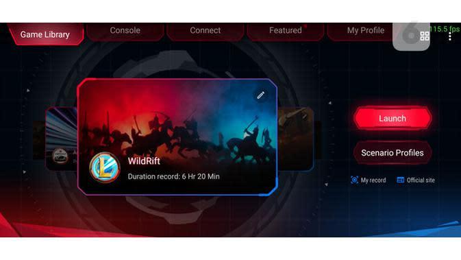 Tampilan Armoury Crate di ROG Phone 3. (Liputan6.com/ Yuslianson)