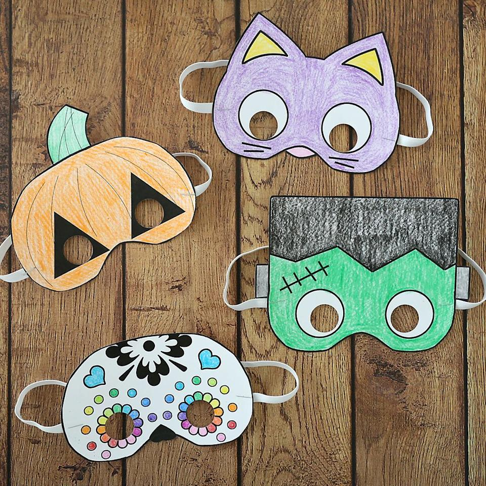 """<p>You're off the hook with this one—just print and cut any of these four templates and let your little ones work their coloring magic. </p><p><strong>Get the tutorial at <a href=""""https://www.itsalwaysautumn.com/halloween-masks-print-color.html"""" target=""""_blank"""">It's Always Autumn</a>. </strong></p><p><strong><a class=""""body-btn-link"""" href=""""https://www.amazon.com/Crayola-Sharpener-Non-Toxic-Classrooms-Preschools/dp/B06Y5XMT7D/?tag=syn-yahoo-20&ascsubtag=%5Bartid%7C10050.g.3480%5Bsrc%7Cyahoo-us"""" target=""""_blank"""">SHOP CRAYONS</a><br></strong></p>"""