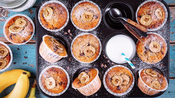 ilustrasi banana muffin/copyright Shutterstock