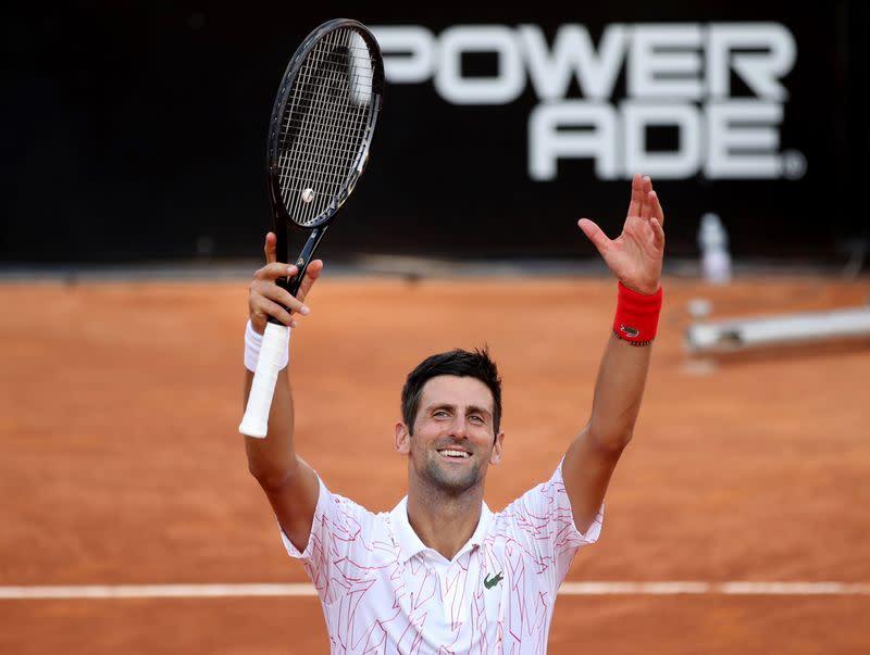Djokovic to face Schwartzman in Italian Open final