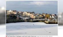 60年來首見!嚴峻寒流侵襲 英國倫敦泰晤士河結冰了!