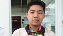 左營國中吳秉儒盼為台灣拿聽障奧運跆拳道金牌
