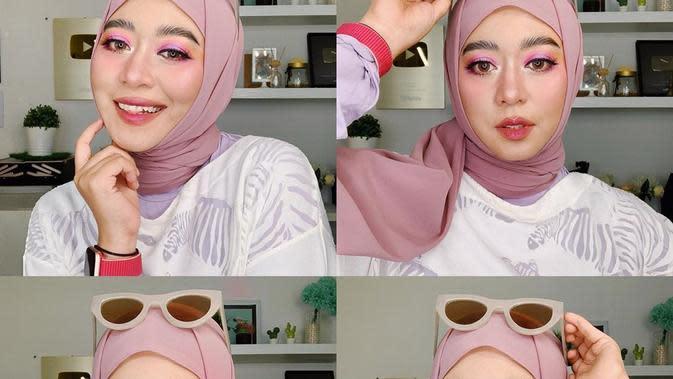 ilustrasi pink makeup ala ini vindy untuk lebaran/instagram: @inivindy
