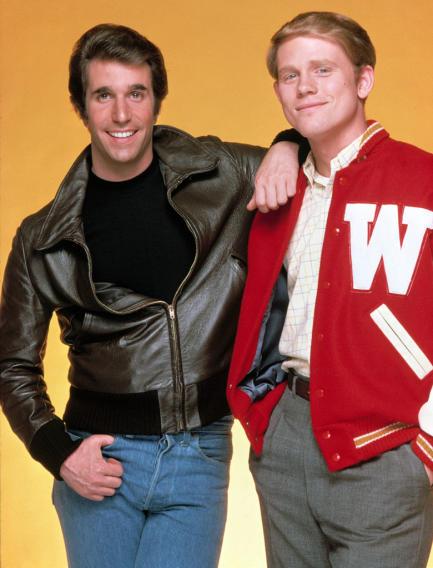 Richie Cunningham and Arthur Fonzarelli (Happy Days)