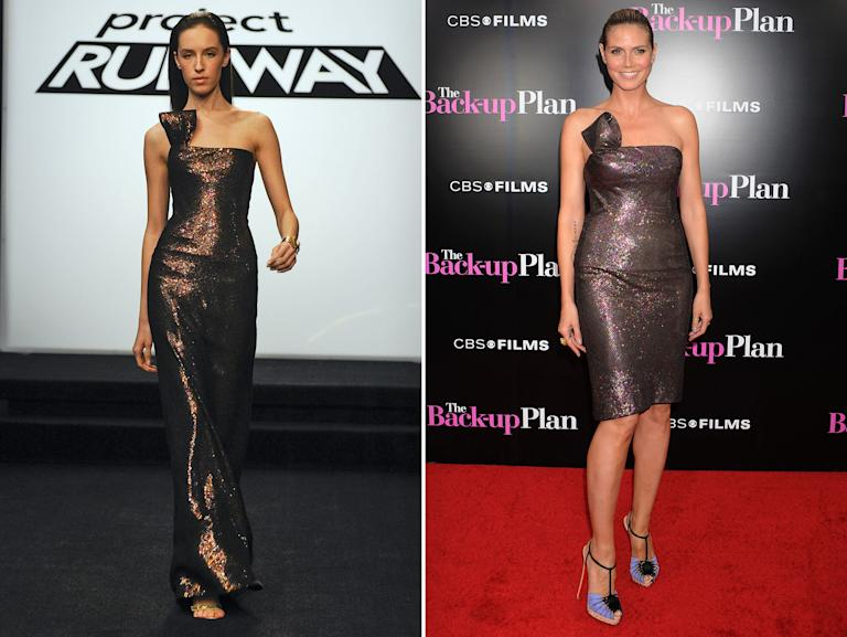 "Heidi Klum Rocks 'Project Runway' Designs - Emilio Sosa: Season 7 runner-up, ""All Stars"" Season 2 runner-up"