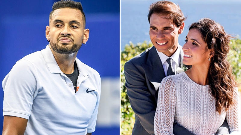 Nick Kyrgios has taken a fresh swipe at Rafael Nadal just days after his wedding. Image: Getty/AAP