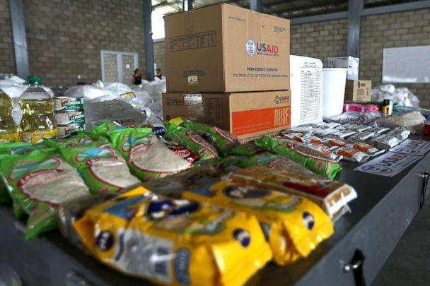 PHOTO: Humanitarian aid for Venezuela is seen at a warehouse at the Tienditas cross-border bridge between Colombia and Venezuela in Cucuta, Colombia, Feb. 18, 2019. (Luisa Gonzalez/Reuters)