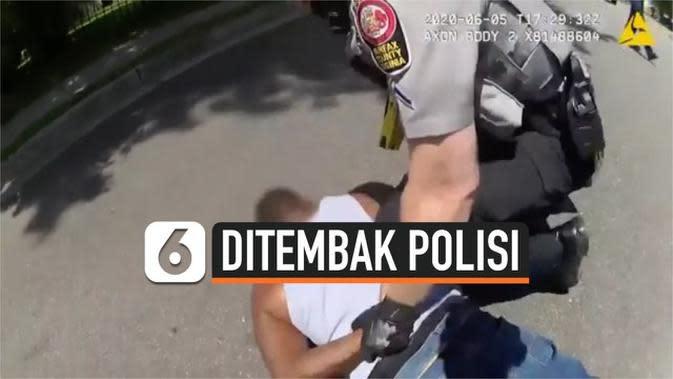 VIDEO: Detik-Detik Polisi Tembak Warga Kulit Hitam dengan Pistol Listrik