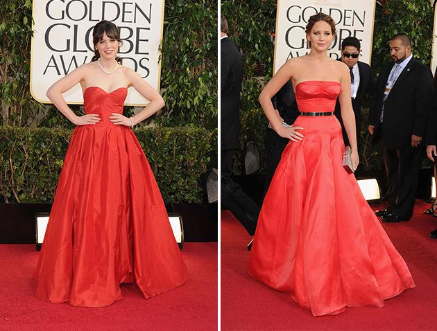 Golden Globes stars stun in similar gowns