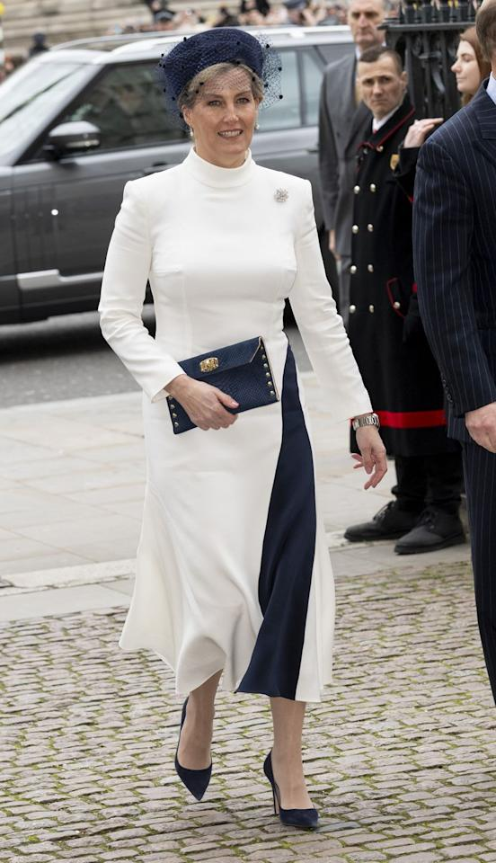 <p>Sophie, Countess of Wessex, attends the Commonwealth Day Service.</p>