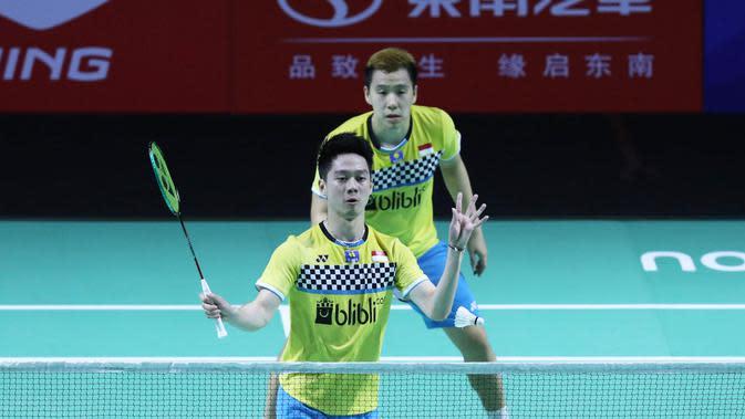 Ganda putra Indonesia Kevin Sanjaya/Marcus Gideon kini memenangkan delapan gelar pada 2019. (Dok PBSI)