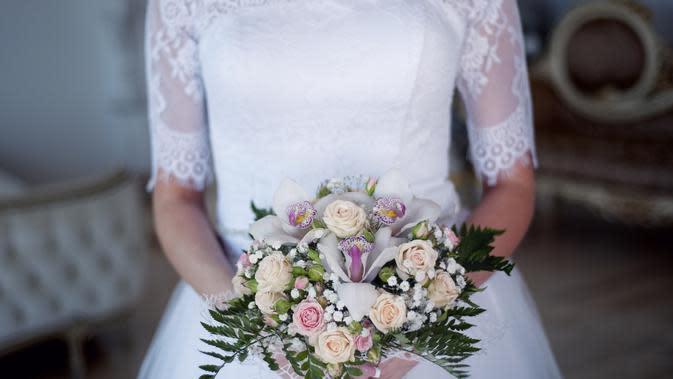 Ilustrasi gaun pengantin (Dok.Pixabay)