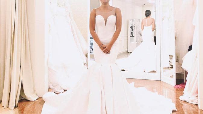 Belum Menikah, 7 Seleb Ini Tampil Memukau Saat Kenakan Baju Pengantin. (Sumber: Instagram/lalamarionmj)