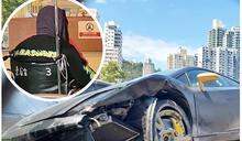 林寶堅尼西隧口撞壆 男司機女乘客疑調包被捕