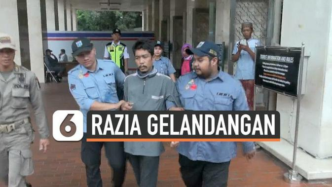 VIDEO: Kerap Meresahkan, Dinsos Razia Gelandangan di Masjid Istiqlal
