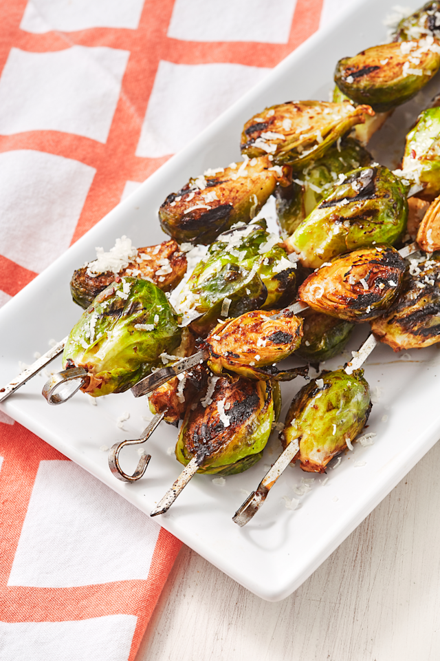 """<p>Just a few ingredients transform Brussels from good to great.</p><p>Get the recipe from <a href=""""https://www.delish.com/cooking/recipe-ideas/a54468/grilled-brussels-sprouts-recipe/"""" target=""""_blank"""">Delish</a>. </p>"""
