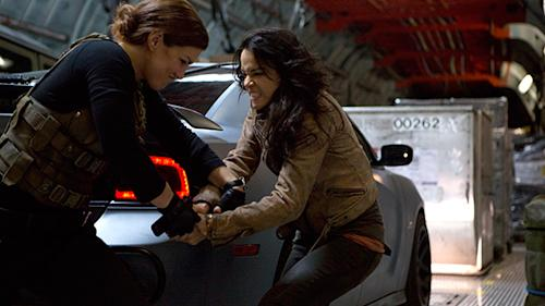 Let's get ready to rumble: Michelle Rodriguez and Gina Carano face off in 'Fast & Furious 6′