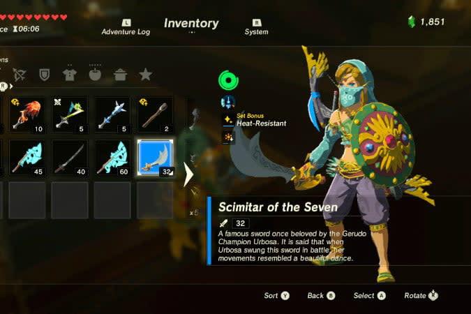 the legend of zelda breath wild best weapons sci
