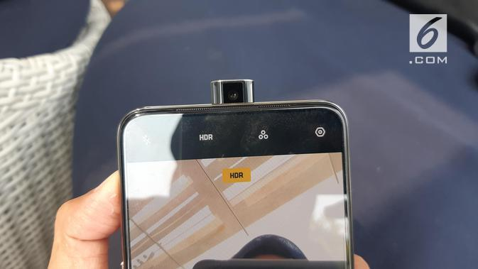 Kamera selfie pop-up Oppo K3 (Liputan6.com/ Agustin Setyo W)