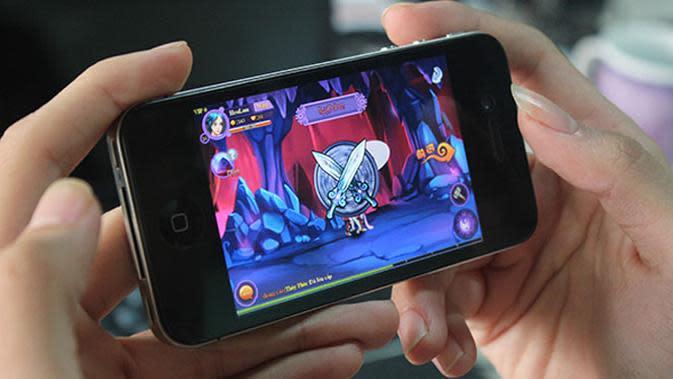 Ilustrasi main mobile game