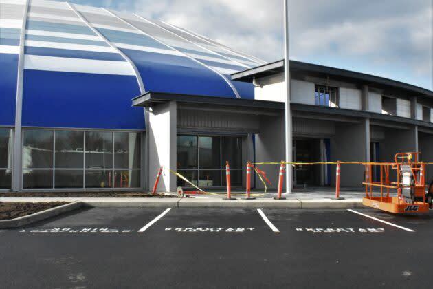 Blue Origin parking lot