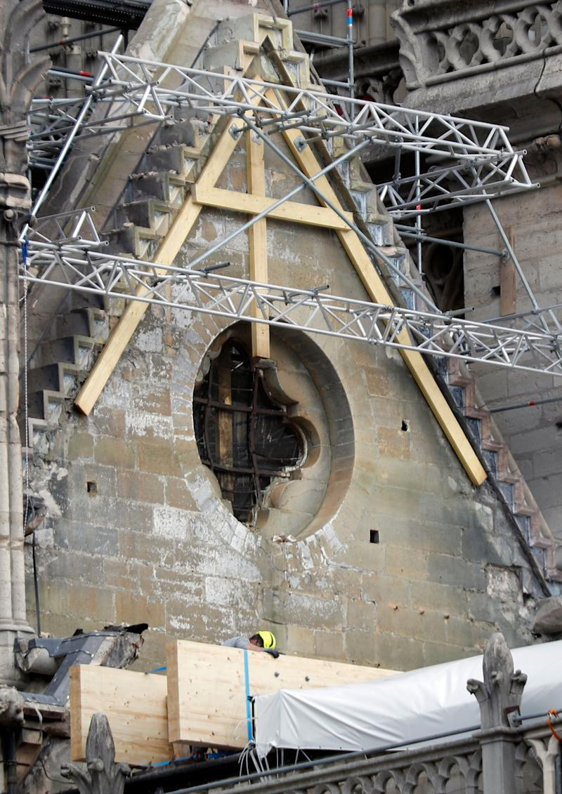 The company involved in renovating Notre-Dame before last week's fire had imposed a strict ban on smoking while up the scaffolding, which some workers ignored. Source: AP