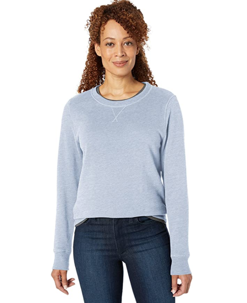 Women's French Terry Fleece Crewneck Sweatshirt on sale during Prime Day 2020.