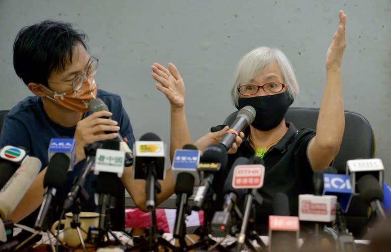 Hong Kong activist 'Grandma Wong' says held 14 months in mainland China