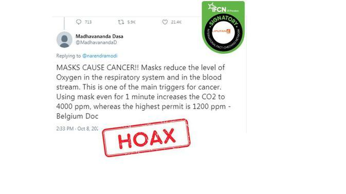 Cek Fakta memakai masker memicu kanker