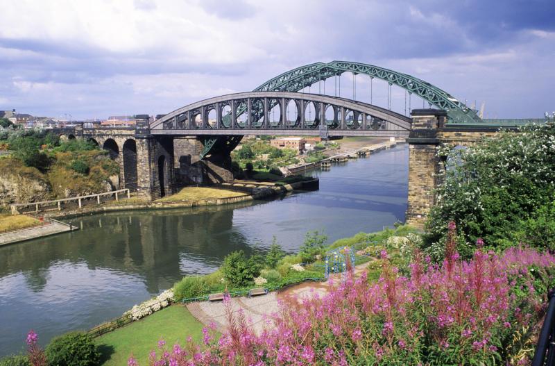 Sunderland, Wearmouth and Railway Bridges, River Wear, Tyne and Wear