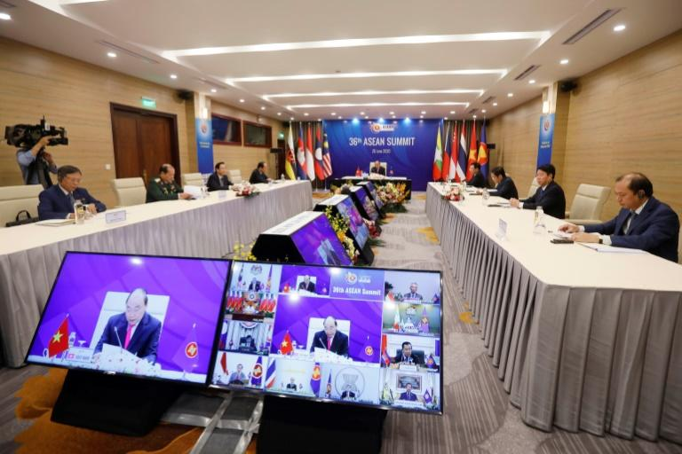 Vietnam's Prime Minister Nguyen Xuan Phuc warned the online summit of the 'serious consequences' of the pandemic for the economic development of ASEAN members