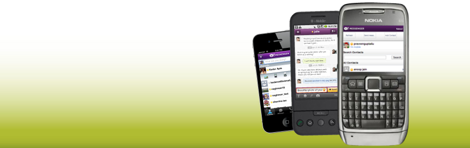 Enjoy your chats on the go on any Internet enabled phone.