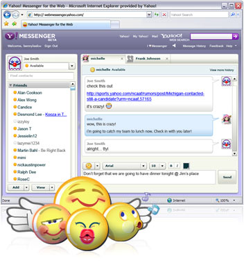 [Yahoo Messenger for the Web]