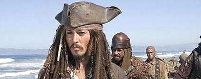 Johnny Depp as Captain Jack Sparrow (Walt Disney Pictures)