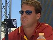 Lane Kiffin and Matt Barkley at Pac-10 Media Day