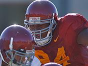 Armond Armstead from USC fall camp