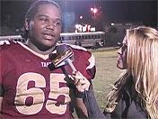 Antwaun Woods after Taft's victory over Notre Dame