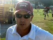Jimbo Fisher talks after Tuesday's practice