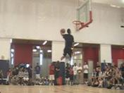 All Arizona Combine Showcase dunk contest warm-ups