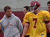 Quarterback drills from USC Spring Football