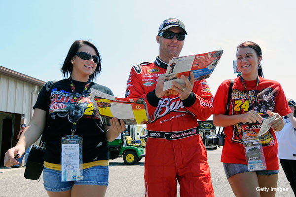 """Create-a-caption: 'Can you sign it, """"Kyle Busch stinks!""""?'"""