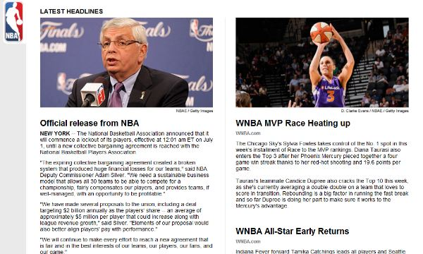 The new NBA.com is a blast from the past