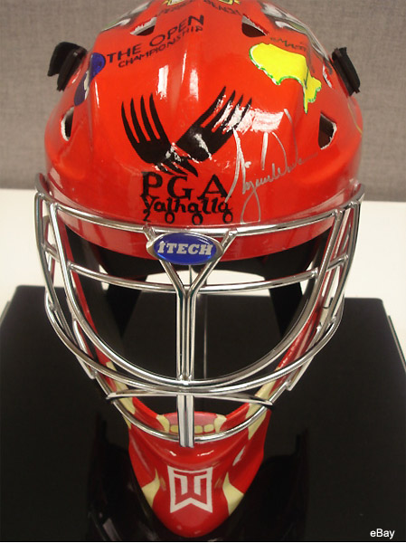 Puck Treasures: The Tiger Woods autographed goalie mask