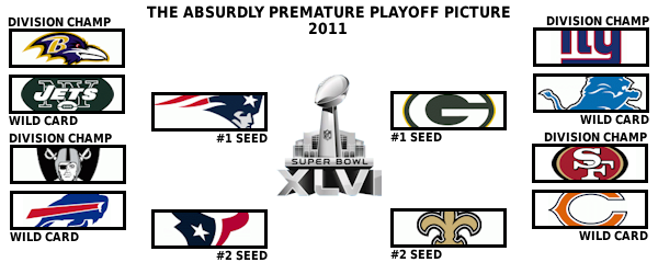The absurdly premature 2011 playoff picture: Week 5