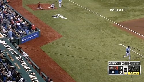 'Natural' light: Ball shatters Tropicana bulb, delays Red Sox-Rays