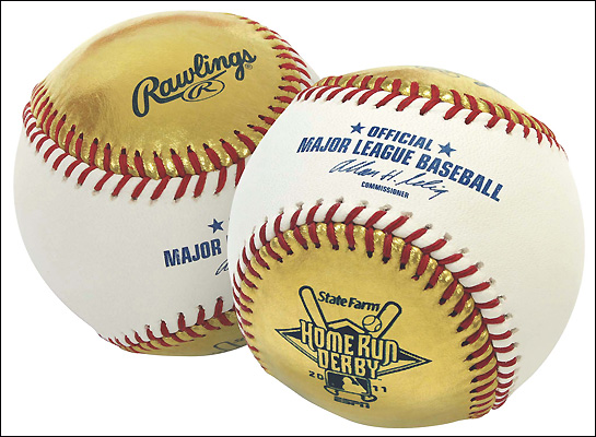 Gold balls! Home Run Derby will feature valuable souvenirs