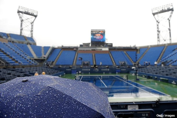 There may not be any U.S. Open tennis on Wednesday either