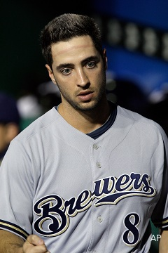 NL MVP Ryan Braun tests positive for PEDs, faces 50-game suspension