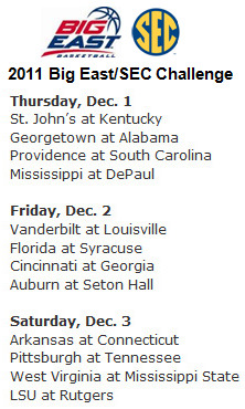 The expanded Big East/SEC challenge will be a marquee event